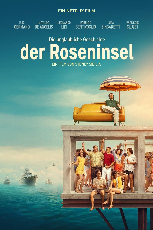 """Plakat von """"Die unglaubliche Geschichte der Roseninsel"""""""